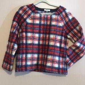 Madewell Plaid Sweatshirt